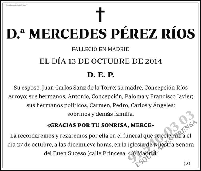 Mercedes Pérez Ríos